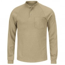 Bulwark FR CoolTouch 2 Long Sleeve Henley Shirt - 6.5 oz. HRC2