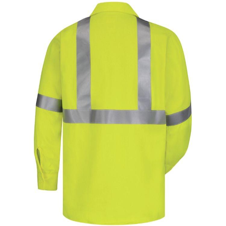 Bulwark FR Hi-Visibility Flame Resistant Work Shirt - 7.0 oz. HRC2
