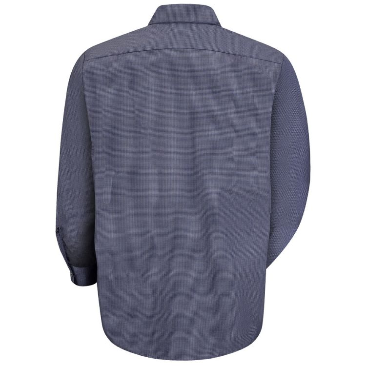 Red Kap Men's Industrial Micro-Check Long Sleeve Work Shirt