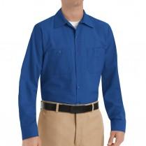 Red Kap Men's Industrial Poplin Long Sleeve Work Shirt
