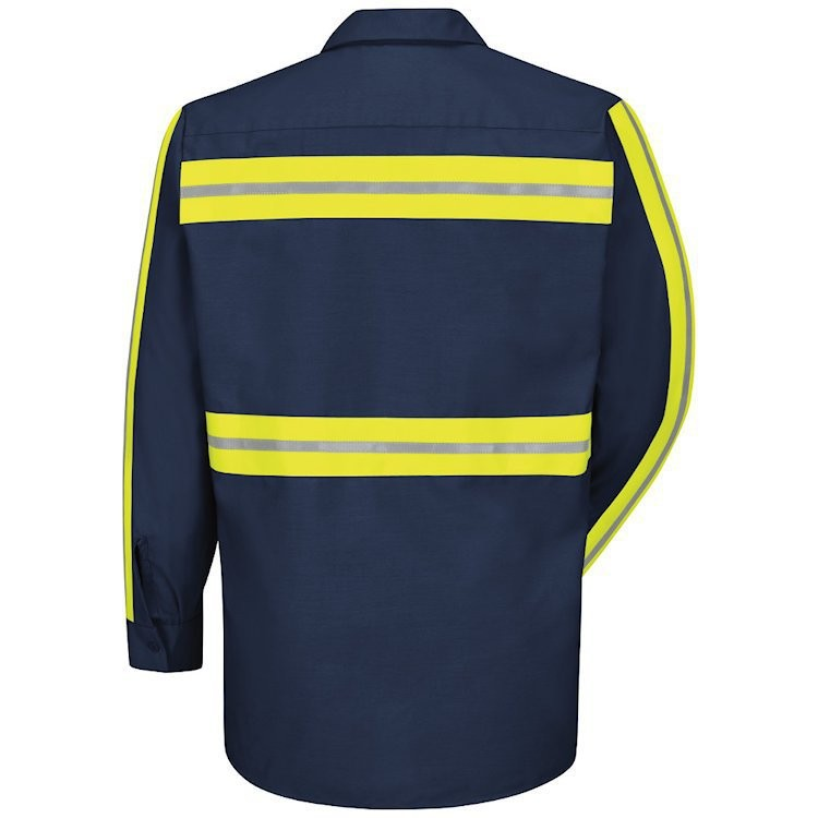 Red Kap Men's Enhanced Visibility Industrial Long Sleeve Work Shirt
