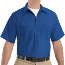 Red Kap Men's Industrial Poplin Short Sleeve Work Shirt