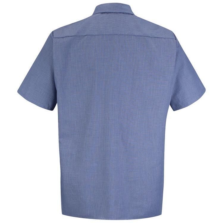 Red Kap Men's Geometric Micro-Check Short Sleeve Work Shirt