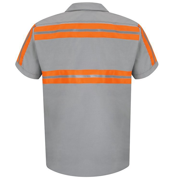 Red Kap Men's Enhanced Visibility Short Sleeve Shirt
