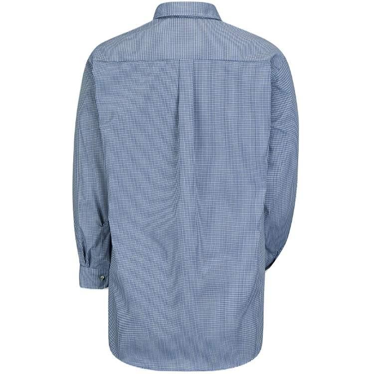 Red Kap Men's Mini-Plaid Long Sleeve Uniform Shirt