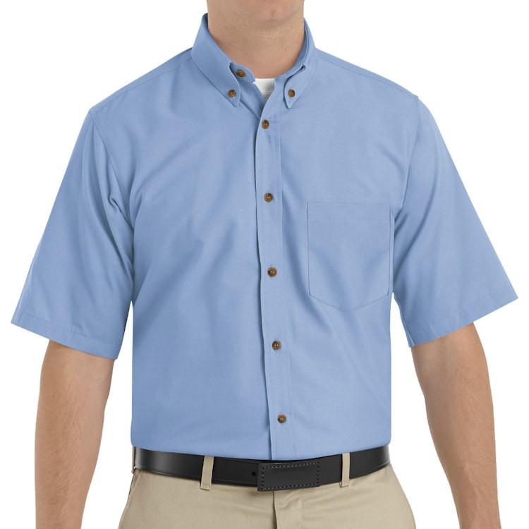 Red Kap Men's Short Sleeve Button-Down Collar Poplin Dress Shirt