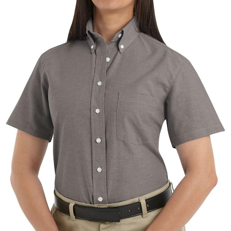 Red Kap Women S Executive Button Down Collar Ss Oxford Dress Shirt