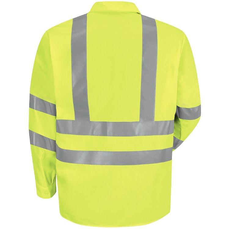 Red Kap Hi-Visibility Class 3 Level 2 Long Sleeve Work Shirt