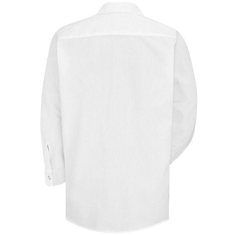 Red Kap Men's Specialized LS Pocketless Polyester Work Shirt