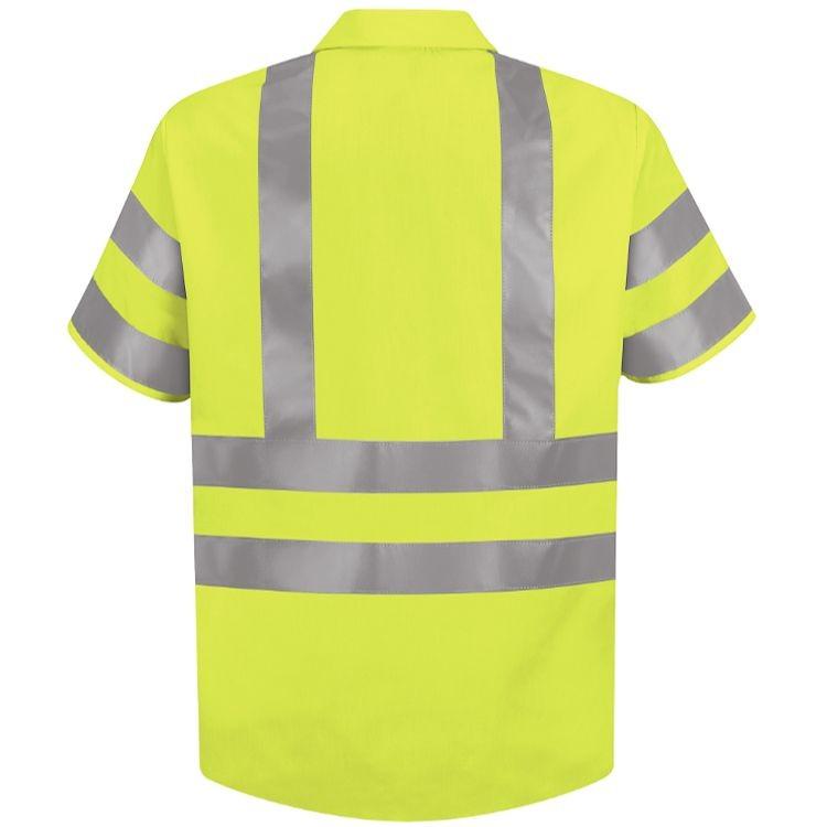 Red Kap Hi-Visibility Class 3 Level 2 Short Sleeve Work Shirt