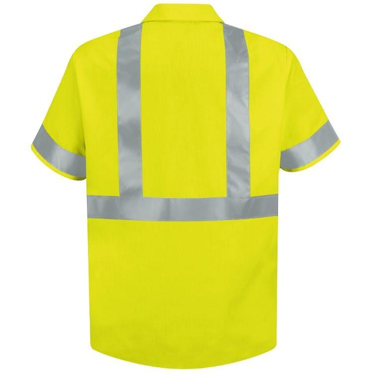 Red Kap Hi-Visibility Class 2 Level 2 Short Sleeve Work Shirt