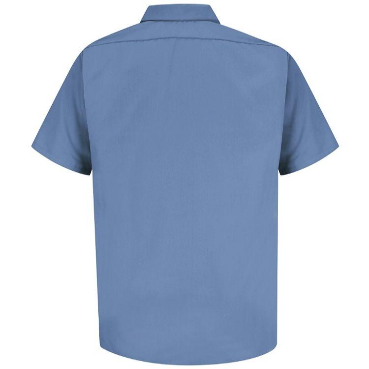 Red Kap Men's Specialized SS Pocketless Polyester Work Shirt