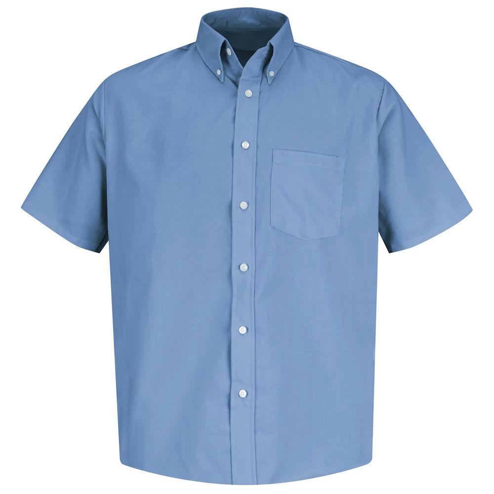 Red Kap Men's Easy Care Button-Down Collar Short Sleeve Dress Shirt