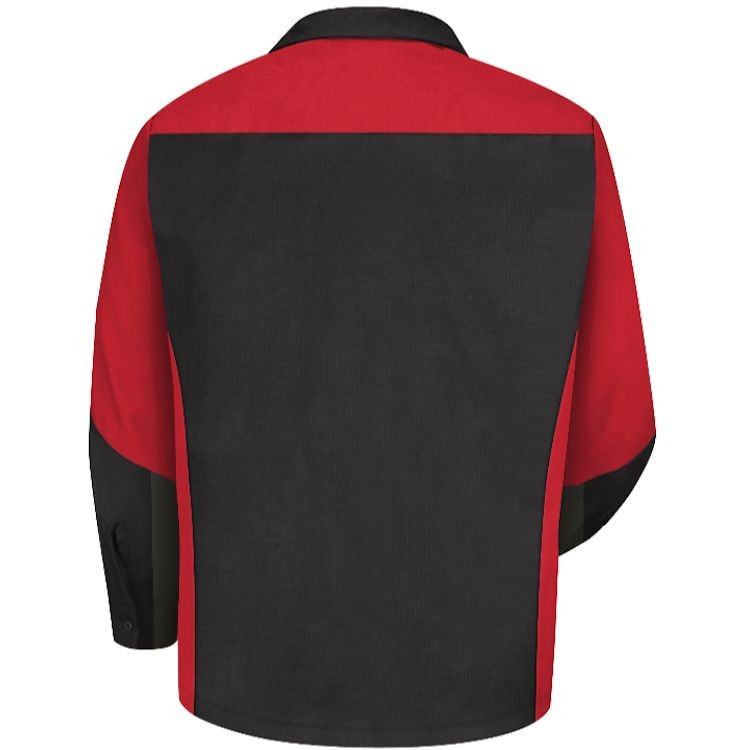 Red Kap Men's Long Sleeve Crew Shirt