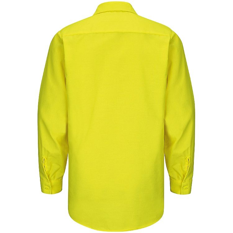 Red Kap Enhanced Visibility Long Sleeve Ripstop  Work Shirt