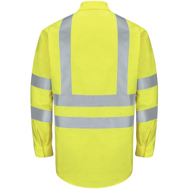 Red Kap Hi-Visibility Class 3 Level 2 Long Sleeve Ripstop  Work Shirt