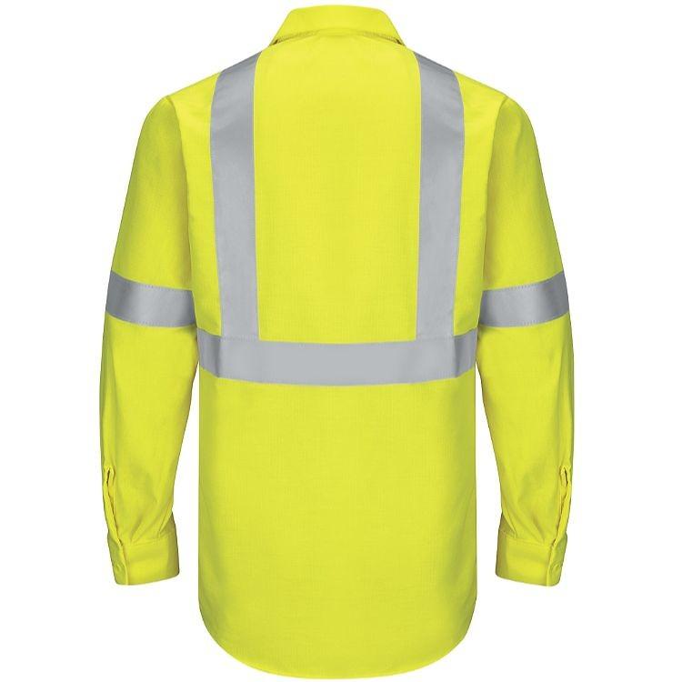 Red Kap Hi-Visibility Class 2 Level 2 Long Sleeve Ripstop  Work Shirt
