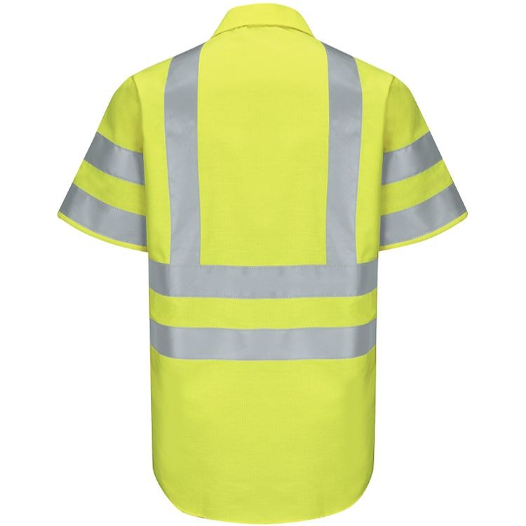 Red Kap Hi-Visibility Class 3 Level 2 Short Sleeve Ripstop  Work Shirt
