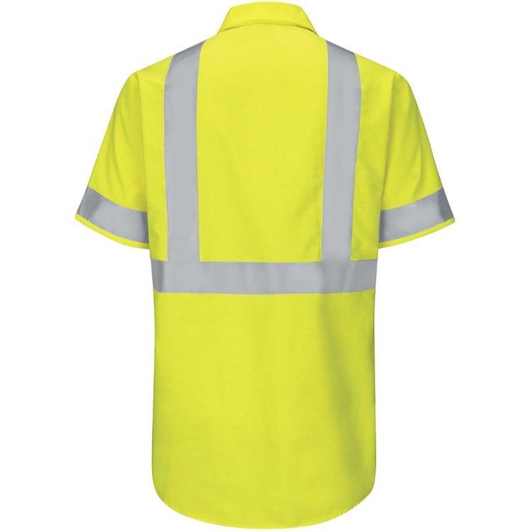Red Kap Hi-Visibility Class 2 Level 2 Short Sleeve Ripstop  Work Shirt