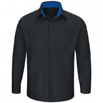 Red Kap Men's Long Sleeve Performance Plus Shop Shirt with OILBLOK Technology