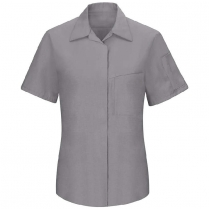 Red Kap Women's Short Sleeve Performance Plus Shop Shirt with OILBLOK Technology
