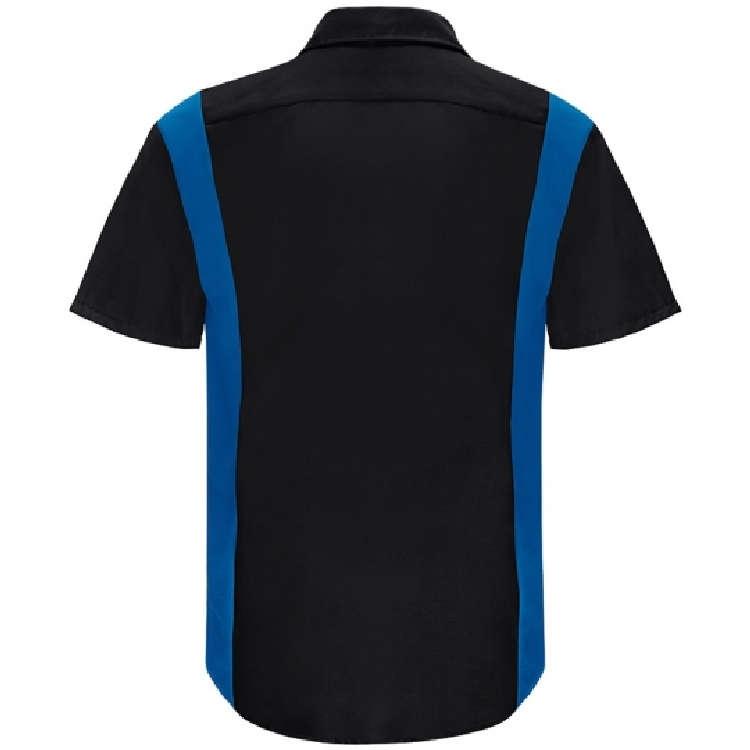 Red Kap Men's Short Sleeve Performance Plus Shop Shirt with OILBLOK Technology