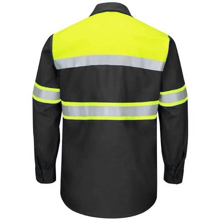 Red Kap Hi-Vis Ripstop Work Long Sleeve Shirt -Type O Class 1
