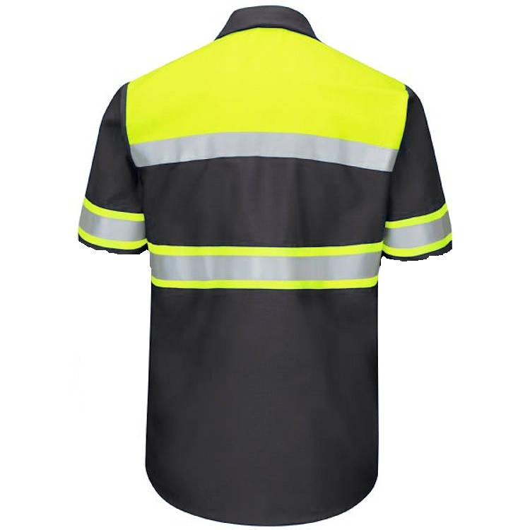 Red Kap Hi-Vis Ripstop Work Short Sleeve Shirt -Type O Class 1