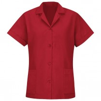 Red Kap Women's Short Sleeve Button Front Loose Fit Smock