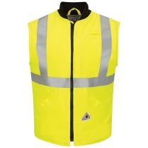 Bulwark Hi-Vis FR Insulated Vest With Reflective Trim - Cooltouch 2 HRC4