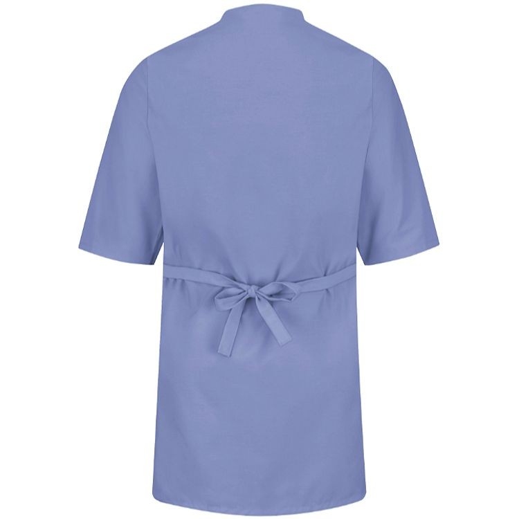 Red Kap Collarless 3/4 Sleeve Butcher Wrap w/Pockets