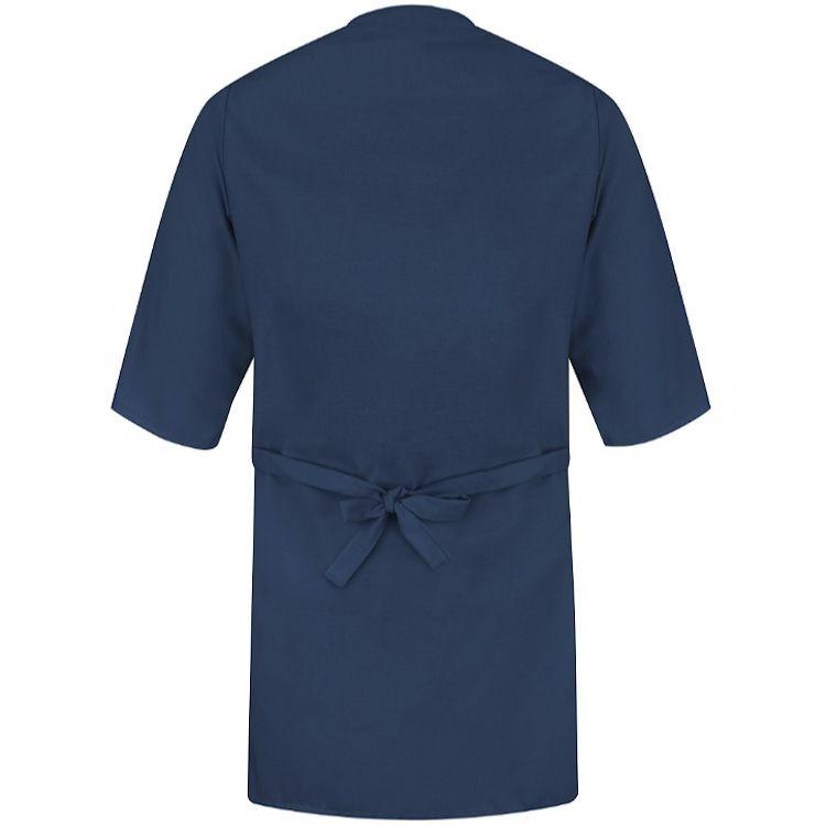 Red Kap Collarless 3/4 Sleeve Butcher Wrap w/o Pockets