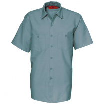 Reed SoftTouch Poplin Industrial Solid Work Short Sleeve Shirt