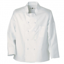 Reed 100% Spun Poly Chef Coat with 10 Knot Buttons