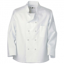 Reed 100% Spun Poly Chef Coat with 10 Pearl Buttons