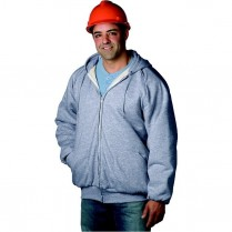 Snap 'n' Wear Thermal Lined, Hooded Sweat Jacket with Zipper Front