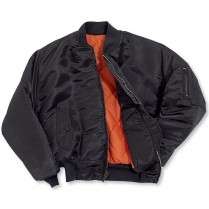 Snap 'n' Wear Nylon Satin Flite Jacket with Quilt Lining