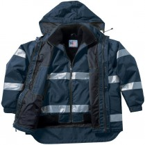 Snap 'n' Wear Navy Safety System Jacket - Liner