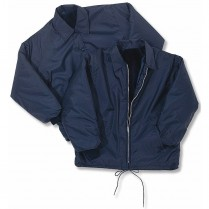 Snap 'n' Wear Pile-Lined Windbreaker with Snap Front & Knit Cuffs