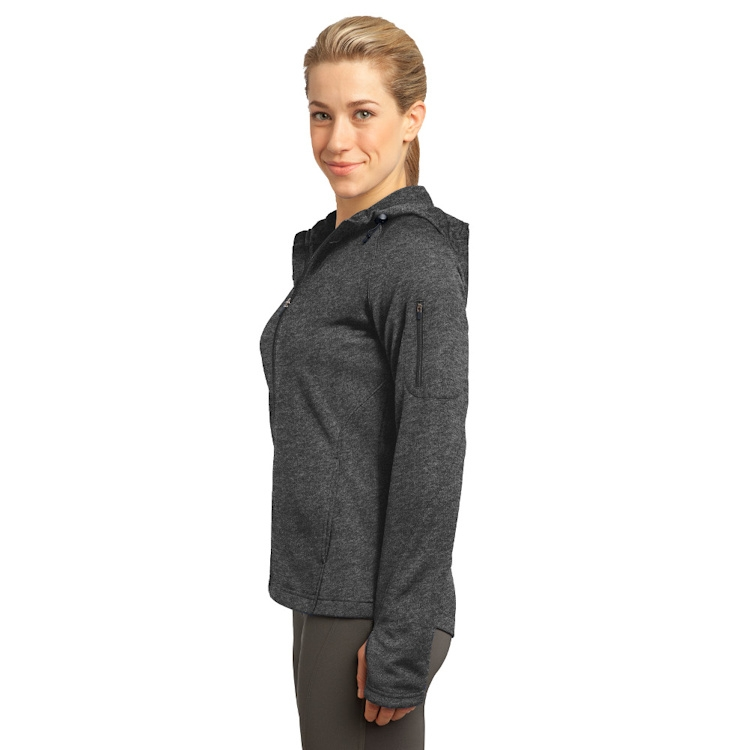 Sport-Tek® Ladies' Tech Fleece Full-Zip Hooded Jacket