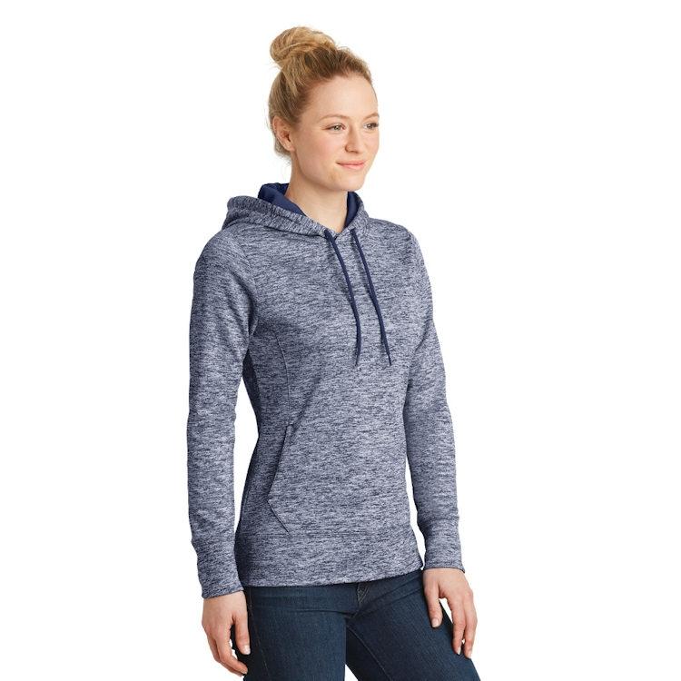 Sport-Tek® Ladies' PosiCharge ® Electric Heather Fleece Hooded Pullover