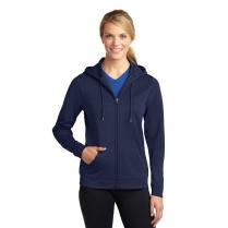 Sport-Tek® Ladies' Sport-Wick® Fleece Full-Zip Hooded Jacket