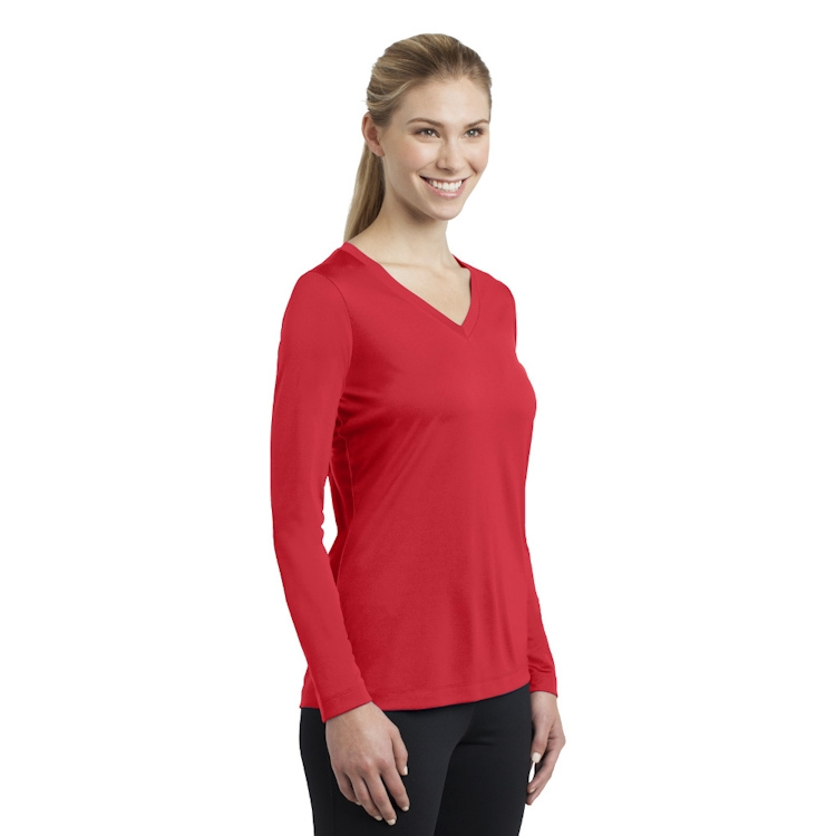 Sport-Tek® Ladies' Long Sleeve PosiCharge® Competitor™ V-Neck Tee