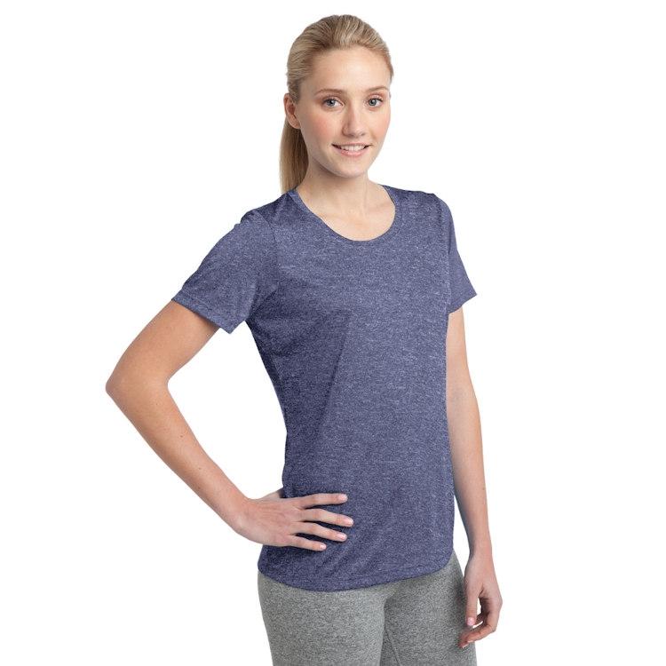 Sport-Tek® Ladies' Heather Contender™ Scoop Neck Tee