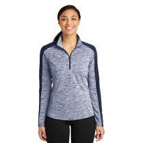 Sport-Tek® Ladies' PosiCharge® Electric Heather Colorblock 1/4-Zip Pullover
