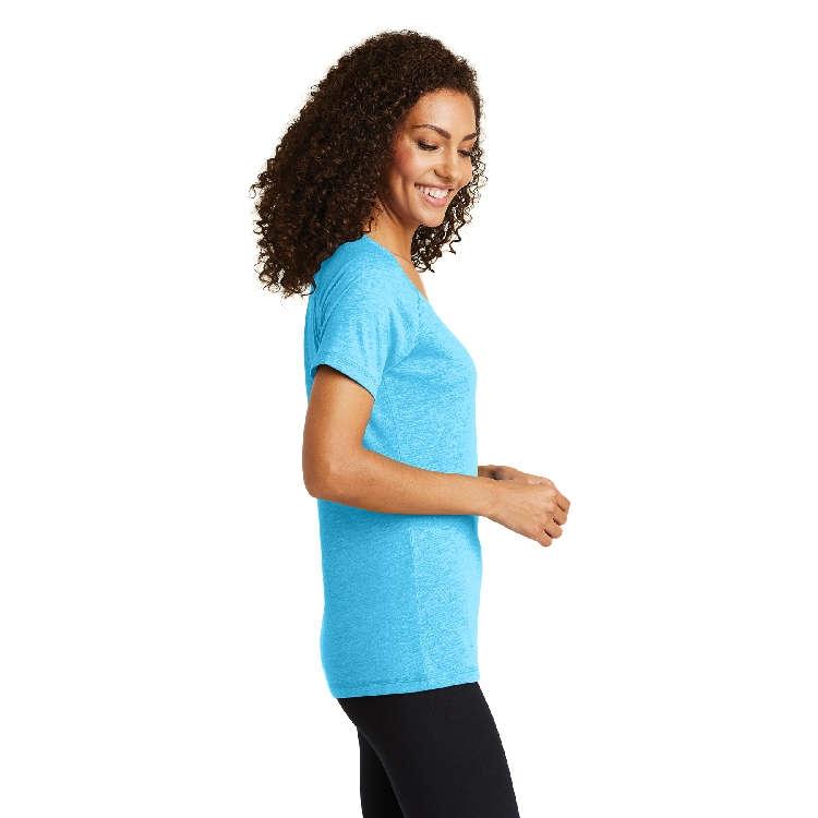 Sport-Tek® Ladies' PosiCharge® Tri-Blend Wicking Scoop Neck Raglan Tee