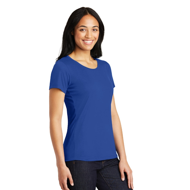 Sport-Tek® Ladies' PosiCharge® Competitor™ Cotton Touch™ Scoop Neck Tee