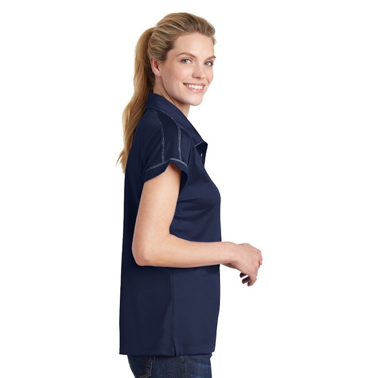 Sport-Tek® Ladies' Contrast Stitch Micropique Sport-Wick® Polo
