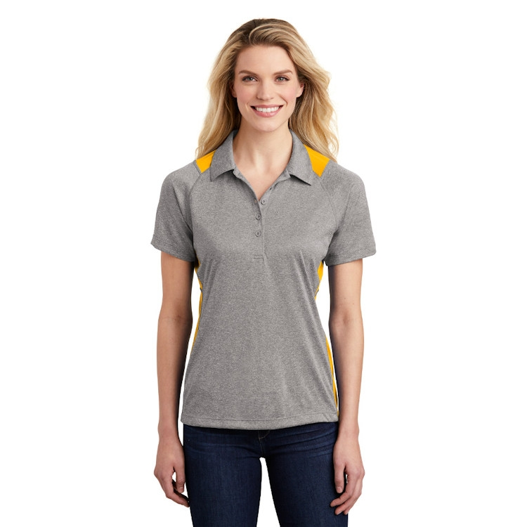 Sport-Tek® Ladies' Heather Colorblock Contender™ Polo
