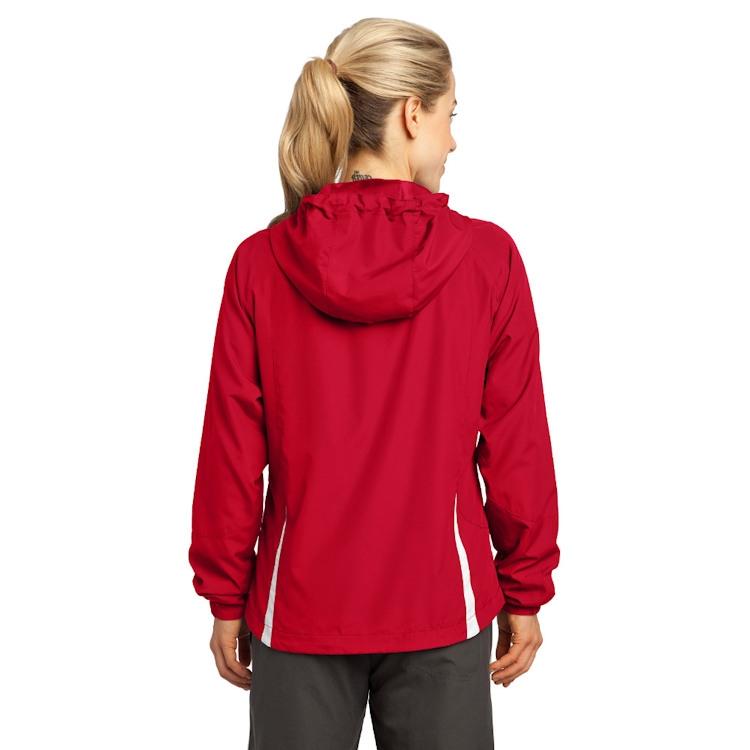 Sport-Tek® Ladies' Colorblock Hooded Raglan Jacket